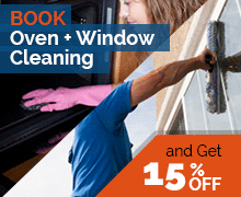 Book Oven Cleaning + Window Cleaning and Get 15 % OFF