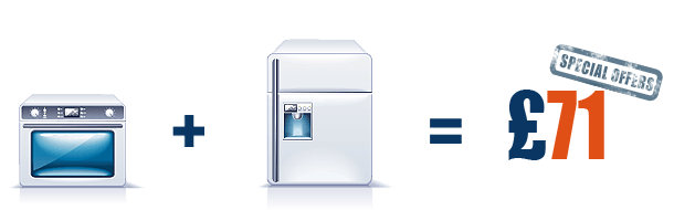 Professional Oven Cleaning + Fridge/Freezer cleaning = £71 Professional Oven Cleaning + Fridge/Freezer with 19% discount for the second appliance.